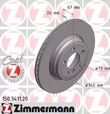 Zimmermann 150.3411.20 - Bremžu diski interparts.lv