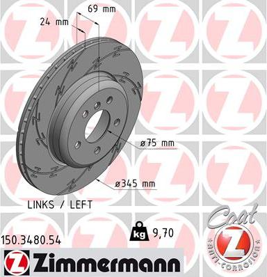 Zimmermann 150.3480.54 - Bremžu diski interparts.lv