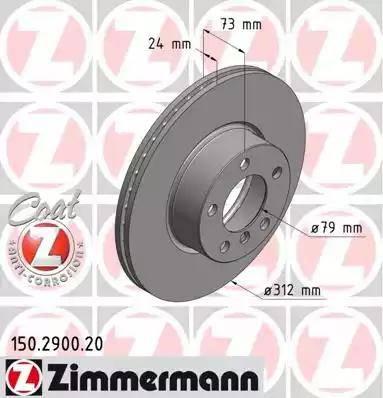 Zimmermann 150.2900.20 - Bremžu diski interparts.lv