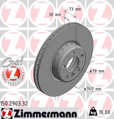 Zimmermann 150.2903.32 - Bremžu diski interparts.lv