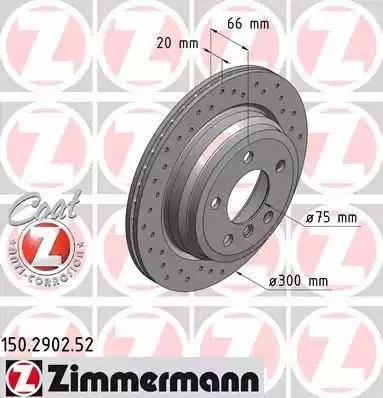 Zimmermann 150.2902.52 - Bremžu diski interparts.lv