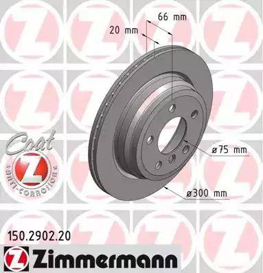 Zimmermann 150.2902.20 - Bremžu diski interparts.lv