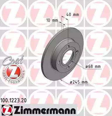 Zimmermann 100.1223.20 - Bremžu diski interparts.lv