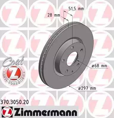 Zimmermann 370.3050.20 - Bremžu diski interparts.lv