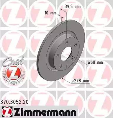 Zimmermann 370.3052.20 - Bremžu diski interparts.lv