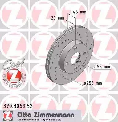Zimmermann 370.3069.52 - Bremžu diski interparts.lv