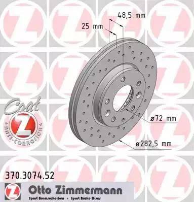 Zimmermann 370.3074.52 - Bremžu diski interparts.lv