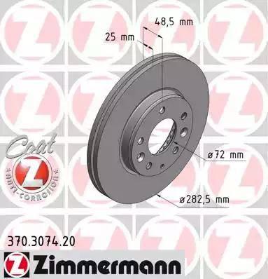 Zimmermann 370.3074.20 - Bremžu diski interparts.lv