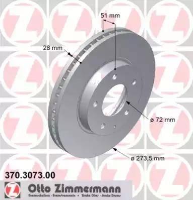 Zimmermann 370.3073.00 - Bremžu diski interparts.lv