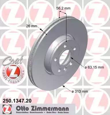 Zimmermann 250.1347.20 - Bremžu diski interparts.lv