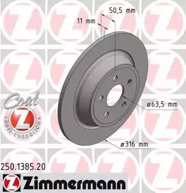 Zimmermann 250.1385.20 - Bremžu diski interparts.lv