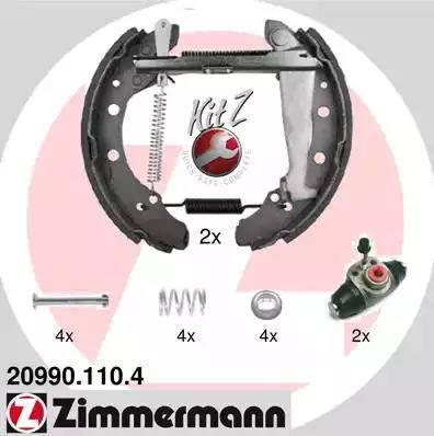 Zimmermann 20990.110.4 - Bremžu komplekts, trumuļa bremzes interparts.lv