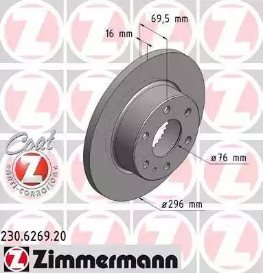 Zimmermann 230.6269.20 - Bremžu diski interparts.lv