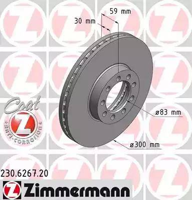 Zimmermann 230.6267.20 - Bremžu diski interparts.lv