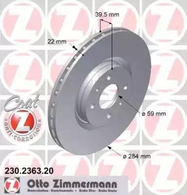 Zimmermann 230.2363.20 - Bremžu diski interparts.lv