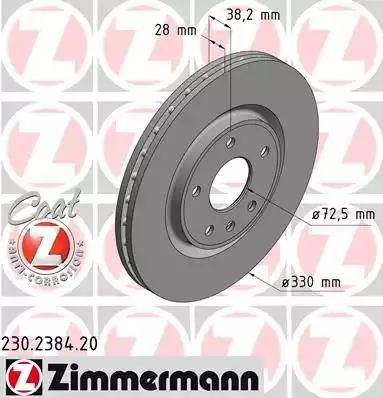 Zimmermann 230.2384.20 - Bremžu diski interparts.lv