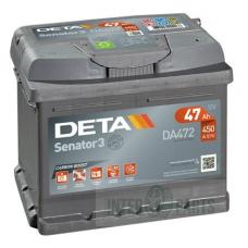 DETA SENATOR3 12V/47Ah/ 450A AKB 207x175x175