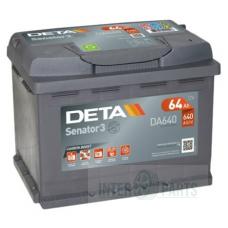 DETA SENATOR3 12V/64Ah/ 640A AKB 242x175x190