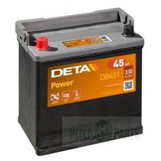 Akumulators DETA POWER 12V/45Ah/330A 220x135x225