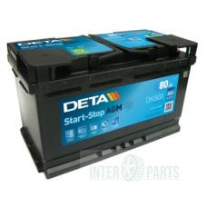 Akumulators DETA AGM 12V/80Ah/800A 315x175x190
