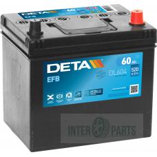Akumulators DETA EFB 12V/60Ah/520A 230x173x222